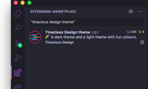 Tinacious Design Visual Studio Code theme sidebar detail